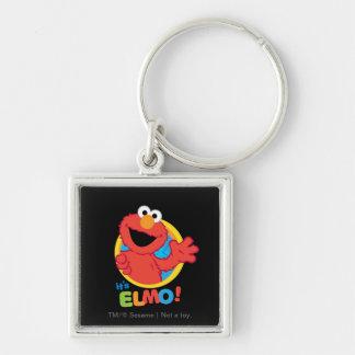 Es Elmo Llavero Cuadrado Plateado