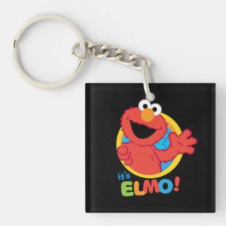 Es Elmo Llavero Cuadrado Acrílico A Doble Cara