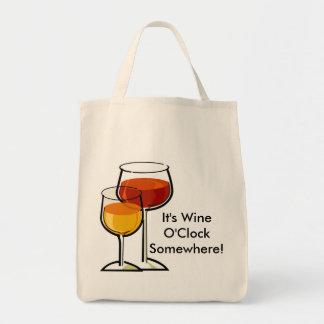 ¡Es en punto del vino en alguna parte! Bolsa Tela Para La Compra