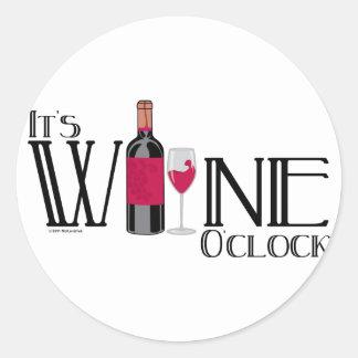 Es en punto del vino pegatina