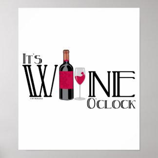 Es en punto del vino póster