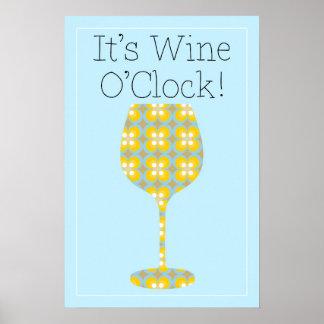 ¡Es en punto del vino! Poster moderno chistoso del