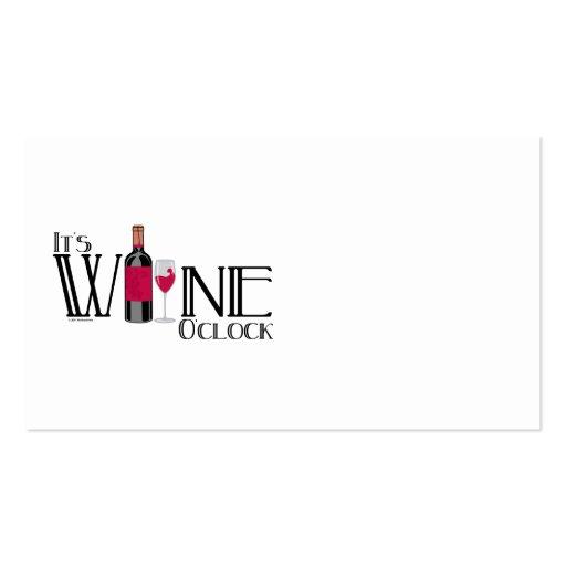 Es en punto del vino plantilla de tarjeta de visita