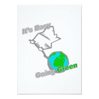 """Es entregas verdes tolerantes del planeta invitación 5"""" x 7"""""""