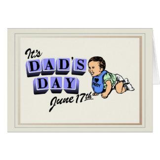 Es espacio en blanco del día del papá tarjeta de felicitación
