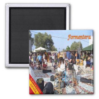 ES - Espain - mercado del Formentera-Hippy en Imán Cuadrado