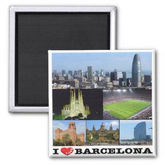 ES - España - Barcelona - amor de I - mosaico del Imán Cuadrado