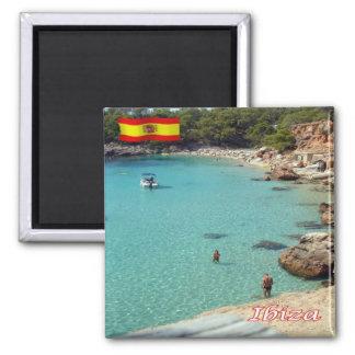 ES - España - Eivissa - la playa Imán Cuadrado