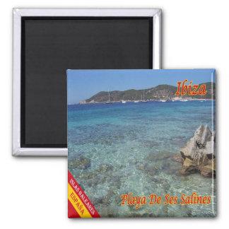 ES - España - Eivissa - playa de la sal Imán Cuadrado