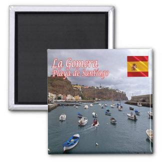 ES - España - La Gomera - playa de Santiago Imán Cuadrado
