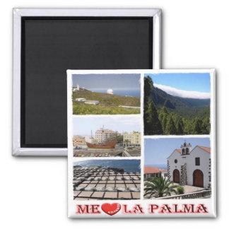 ES - España - La Palma - amor de I - mosaico del Imán Cuadrado