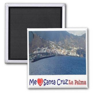ES - España - La Palma - collage del amor de Santa Imán Cuadrado