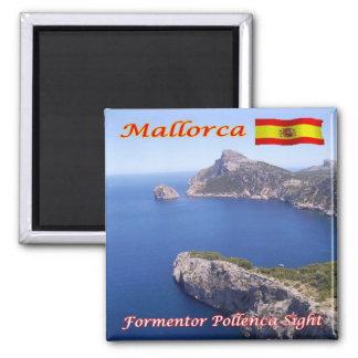 ES - España - Mallorca - vista de Formentor Imán Cuadrado