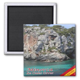 ES - España - Menorca - Le Cales Coves Imán Cuadrado