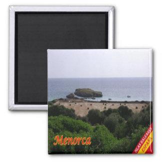 ES - España - Menorca - panorama Imán Cuadrado