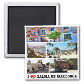 ES - España - Palma de Mallorca - amor de I - Imán Cuadrado