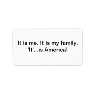 Es etiquetas de América Etiquetas De Dirección