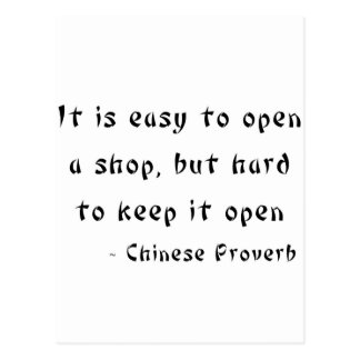 Es fácil abrir una tienda pero difícilmente manten postales