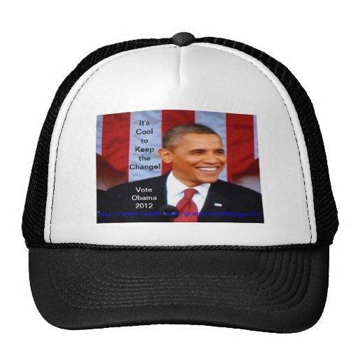 ¡Es fresco guardar el cambio! _20 voto Obama 2012 Gorro