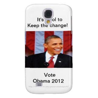 ¡Es fresco guardar el cambio! _3 voto Obama 2012 Funda Para Galaxy S4