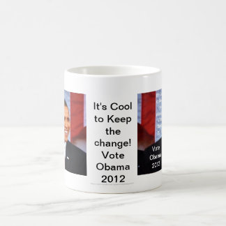 ¡Es fresco guardar el cambio! _6 voto Obama 2012 Tazas De Café