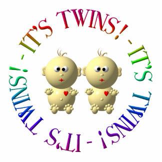 ¡Es gemelos! Fotoescultura Vertical
