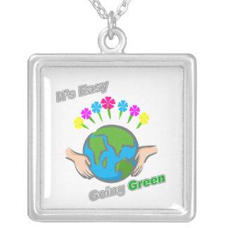 Es globo florido verde tolerante pendientes personalizados
