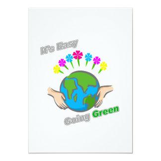 """Es globo florido verde tolerante invitación 5"""" x 7"""""""
