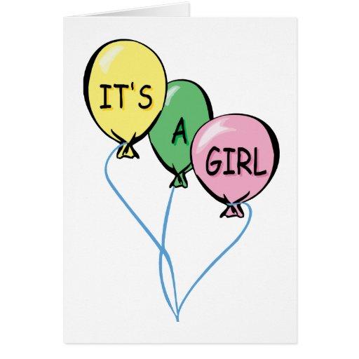 Es globos de un chica felicitacion