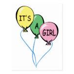 Es globos de un chica postal