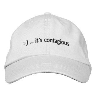 - … es gorra bordado contagioso gorra de béisbol