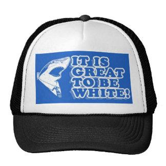¡Es grande ser blanco! Gorras De Camionero