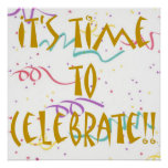 ¡Es hora de celebrar!! Posters