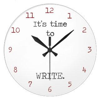 Es hora de escribir reloj de pared