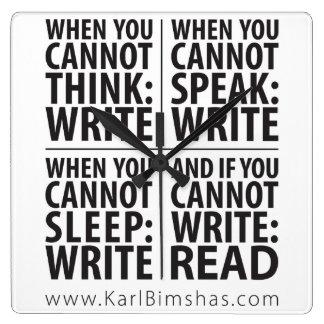 Es hora de escribir relojes