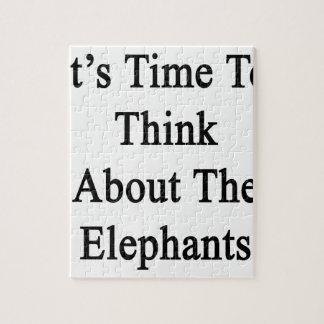 Es hora de pensar en los elefantes puzzle