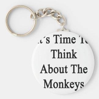 Es hora de pensar en los monos llavero redondo tipo pin
