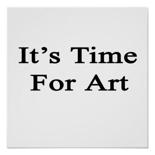 Es hora para el arte impresiones