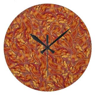 ¡Es hora para el tocino! : Reloj de pared de punta