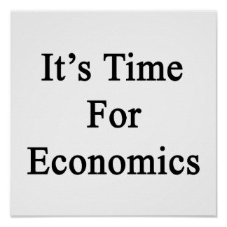 Es hora para la economía poster