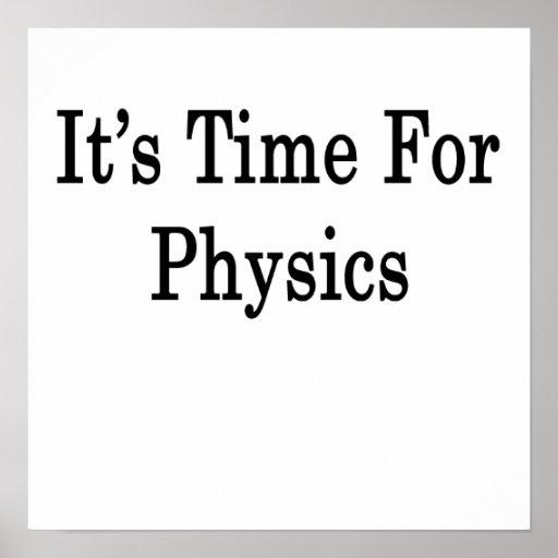 Es hora para la física impresiones