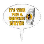 Es hora para un reloj de Squatch Decoraciones De Tartas