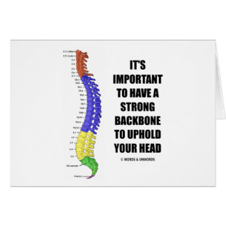 Es importante hacer que una espina dorsal fuerte s tarjeton