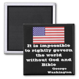 Es imposible gobernar derecho el witho del mundo imán cuadrado
