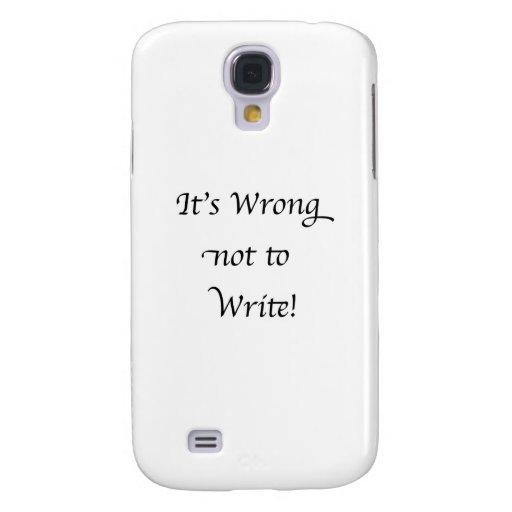 Es incorrecto no escribir