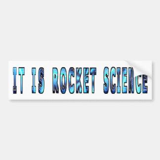 Es ingeniería espacial pegatina de parachoque