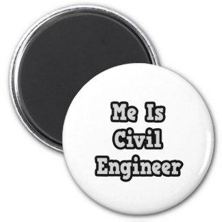 Es ingeniero civil imán redondo 5 cm