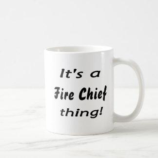 ¡Es jefe de bomberos de la cosa! Tazas De Café