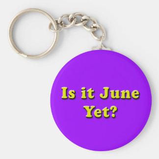¿Es junio? Llavero (amarillo)