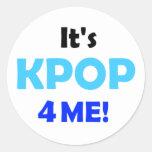 ¡Es KPOP 4 YO! botón Pegatina Redonda